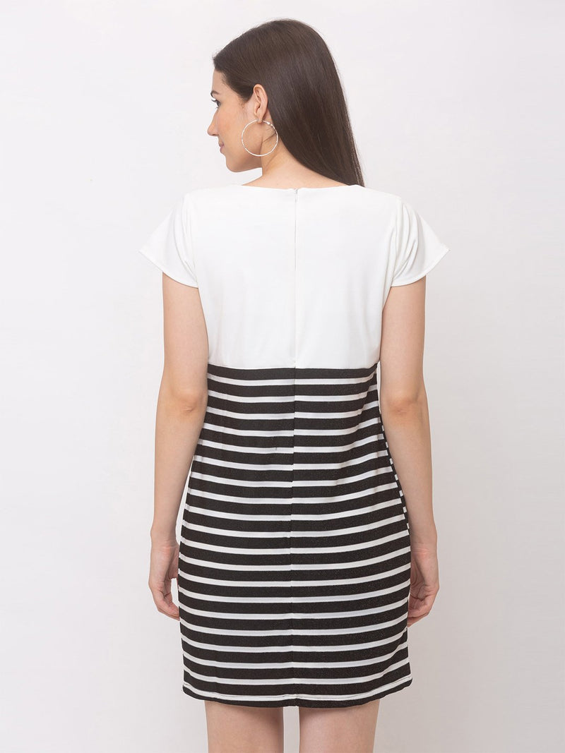 ZOLA Sporty Striped Casual Dress