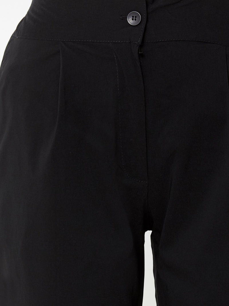 Comfortable Plain Trousers Black