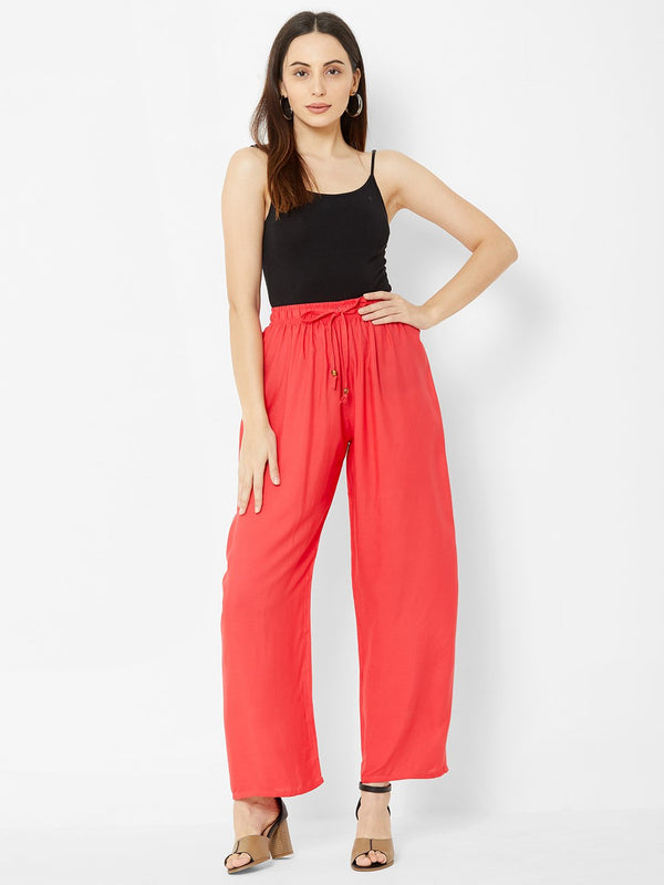 Regular Plain Pants Pink
