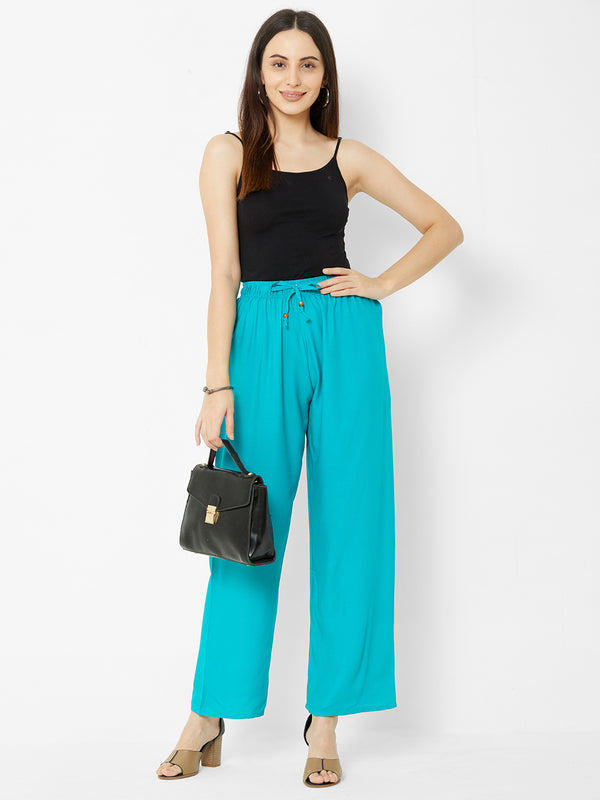 Regular Plain Pants Sky Blue