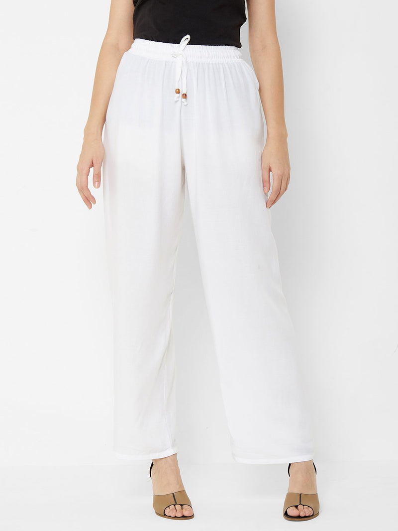 Regular Plain Pants White