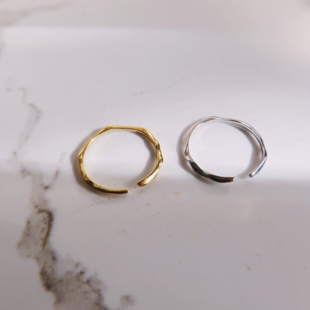 Hammered Adjustable Ring