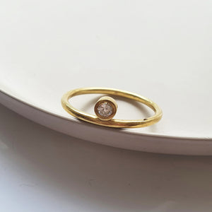 Misaligned Zirconia Ring - Size 6