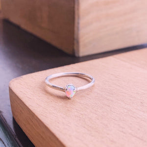 Opal Gemstone Ring - 3 prong setting