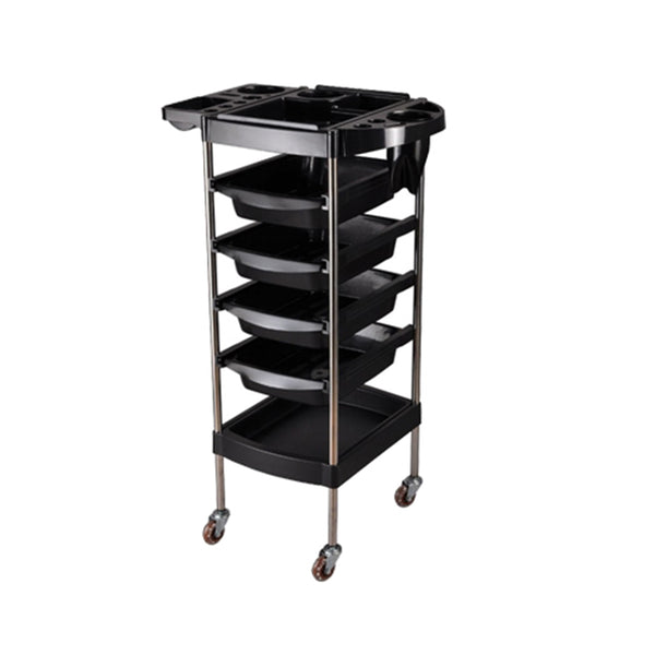PROFESSIONAL EQUIPMENT SALON TROLLEY (BLACK) 006 | KARROCË E ZEZË