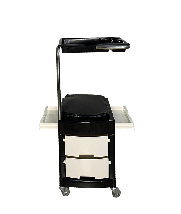 PROFESSIONAL EQUIPMENT SALON TROLLEY (BLACK & WHITE ) 007 | KARROCË