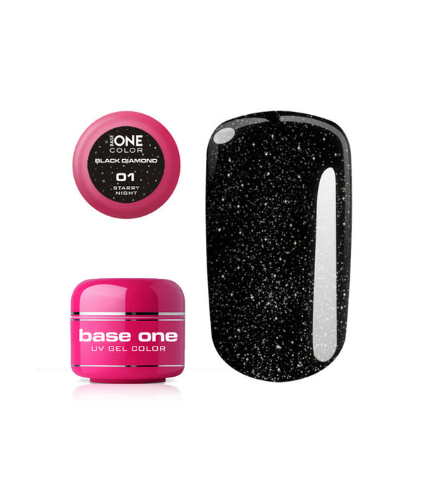 SILCARE UV GEL COLOR BLACK DIAMOND 01 STARRY NIGHT 5g | GELL ME NGJYRË