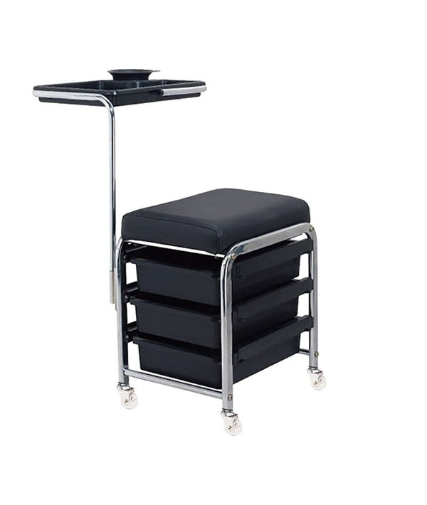 PROFESSIONAL EQUIPMENT SALON TROLLEY (BLACK) 3001 | KARROCË E ZEZË