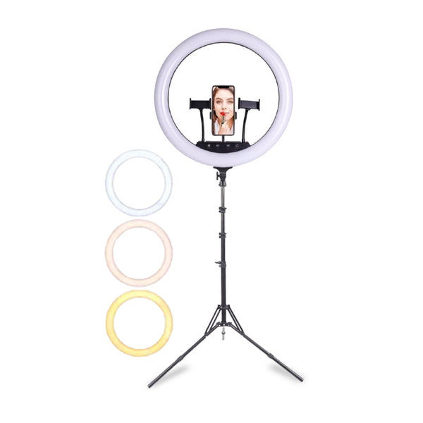 PROFESSIONAL EQUIPMENT LED LIGHT RING FOR PHOTOGRAPHY & VIDEO STAND 18INCH | LED LLAMBË PËR FOTOGRAFI & VIDEO