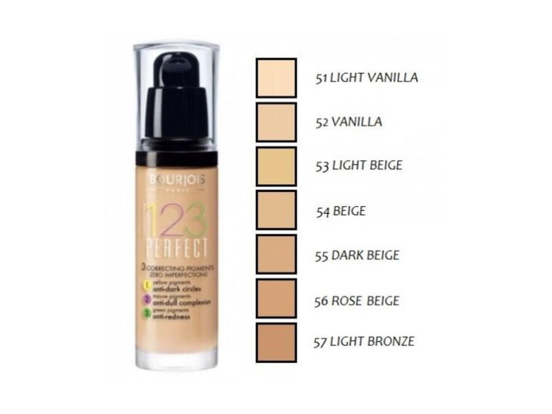 BOURJOIS 123 PERFECT FOUNDATION 16h 055 30ml | PUDËR E LËNGËT