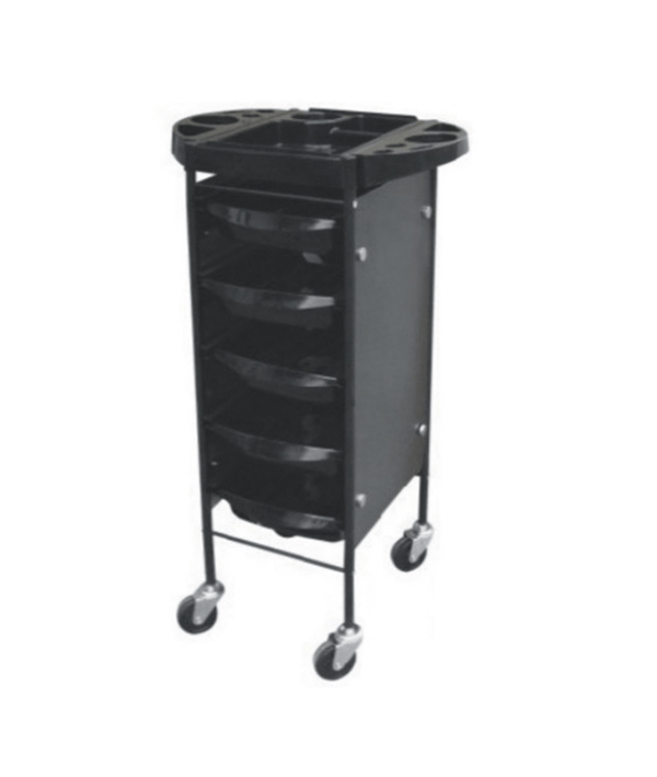 PROFESSIONAL EQUIPMENT SALON TROLLEY (BLACK) 3115A | KARROCË E ZEZË