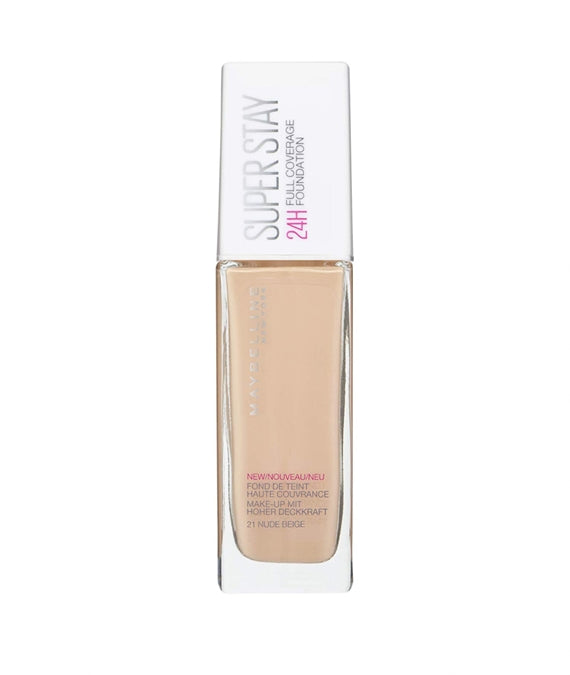 MAYBELLINE SUPER STAY FOUNDATION 24H 21 30ml | PUDËR E LËNGËT