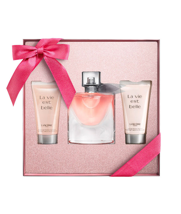 LANCÔME LA VIE EST BELLE SET: SHOWER GEL 50ml & PARFUM 50ml & BODY LOTION 50ml | SET PËR FEMRA