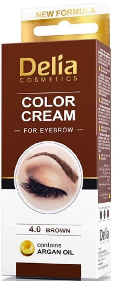 DELIA COLOR CREAM FOR EYEBROWN BROWN 4.0 15ML | NGJYRË KAFE PËR VETULLA
