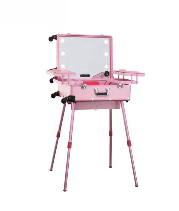 PROFESSIONAL EQUIPMENT HALF MAKE-UP BOX HALF TOUCH SCREEN | ÇANTË ALUMINI PËR GRIM