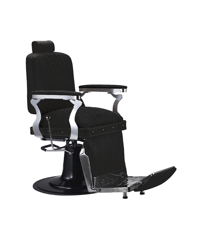 PROFESSIONAL EQUIPMENT CHAIR BARBER (BLACK) 6631 | KARRIGE E ZEZË