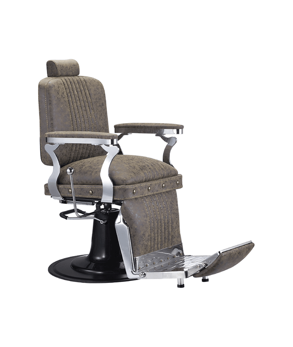 PROFESSIONAL EQUIPMENT CHAIR BARBER (BROWN) 6631 | KARRIGE KAFE
