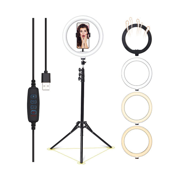 "PROFESSIONAL EQUIPMENT LED LIGHT RING FOR PHOTOGRAPHY & VIDEO STAND 10"" INCH 