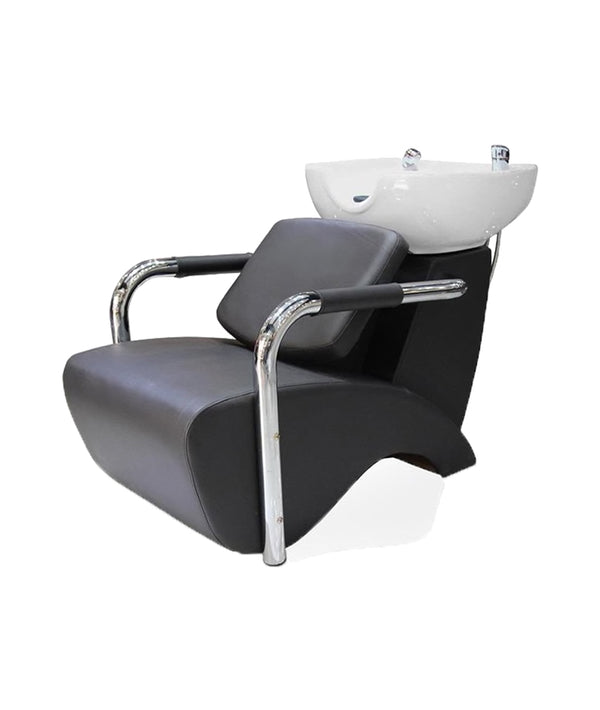 PROFESSIONAL EQUIPMENT SHAMPOO BASIN CHAIR (WHITE & BLACK) 1037 | LAVATEST BARDHË & ZI