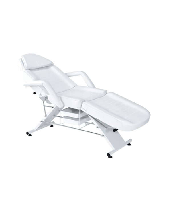 PROFESSIONAL EQUIPMENT BEAUTY SALON BED (WHITE) 723 | SHTRAT PROFESIONAL I BARDHË