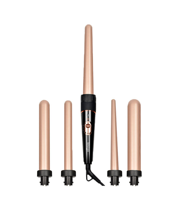 LOVIGO CERAMIC HAIR CURLING IRON GOLD 1X5PCS (9-18M / 19-25/ 19MM / 25MM / 32MM) | FIGARO PËR FLOKË