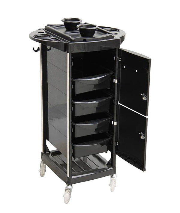 PROFESSIONAL EQUIPMENT SALON TROLLEY (BLACK) 001 | KARROCË E ZEZË