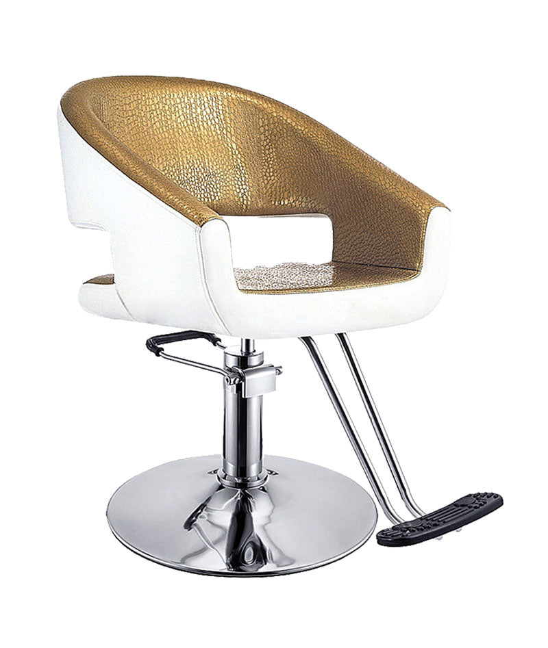 PROFESSIONAL EQUIPMENT CHAIR (WHITE & GOLD) 8349 | KARRIGE E BARDHË & ARI