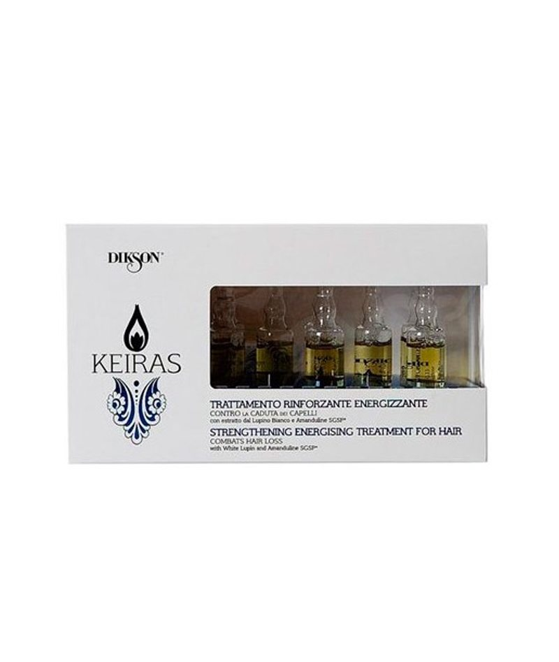 DIKSON KEIRAS STRENGTHENING ENERGIZING TREATMENT FOR HAIR 1X8PCS 10ML | AMPULA KUNDËR RËNIES SË FLOKËVE