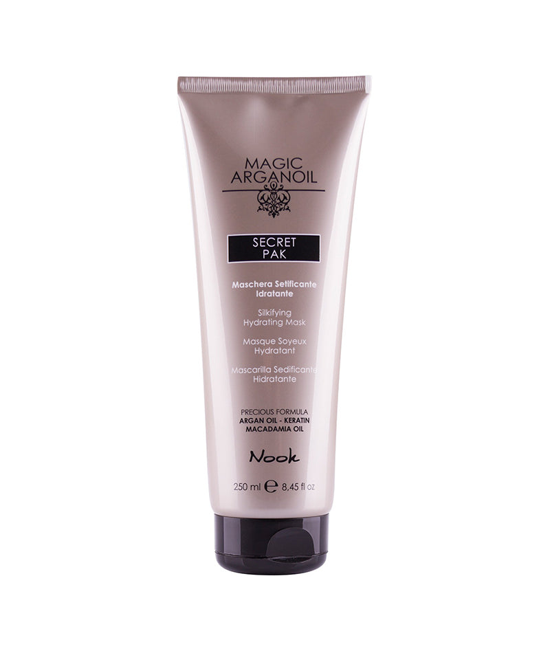 NOOK MAGIC ARGANOIL SECRET PAK HYDRATING MASK 250ML | MASKË PËR FLOKË