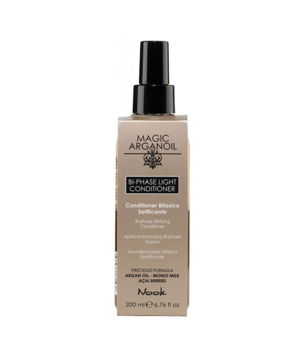 NOOK MAGIC ARGANOIL BI-PHASE LIGHT CONDITIONER 200ml | KONDICIONER PËR FLOKË PA SHPËLARJE