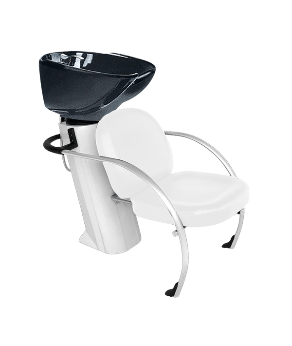 PROFESSIONAL EQUIPMENT SHAMPOO BASIN CHAIR (WHITE) 9055 | LAVATEST I BARDHË