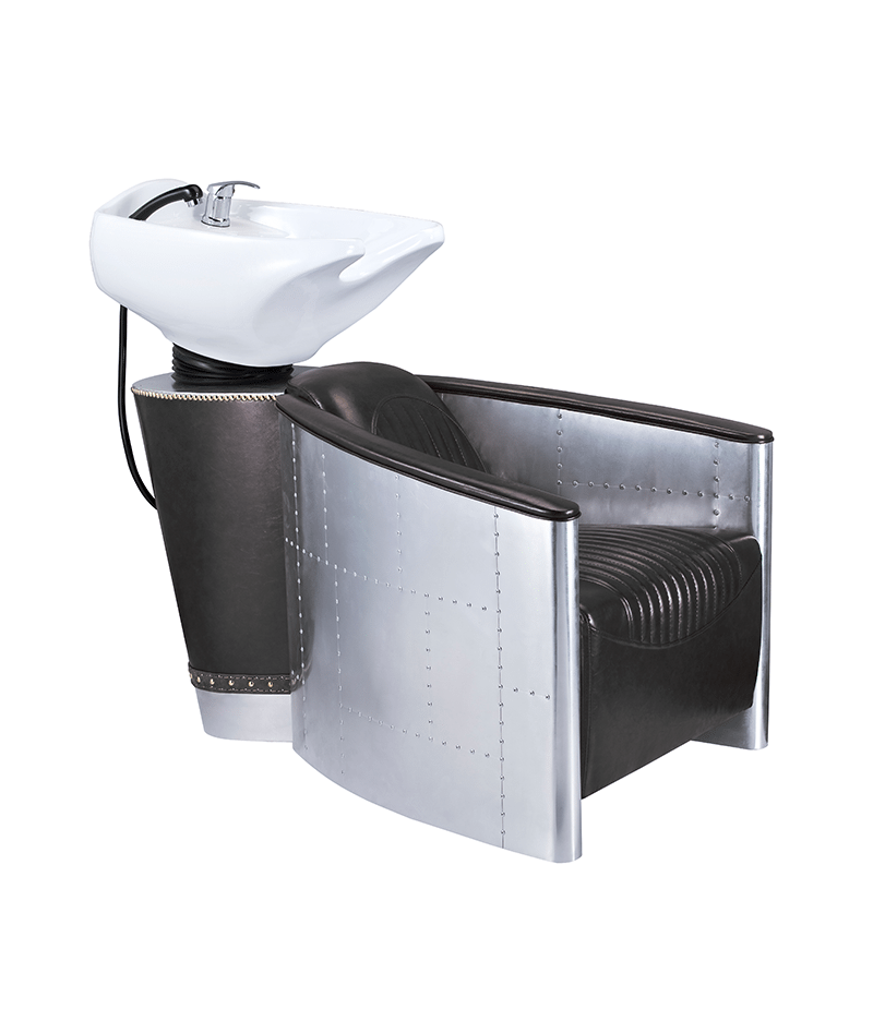 PROFESSIONAL EQUIPMENT SHAMPOO BASIN CHAIR (BLACK & SILVER) 985 | LAVATEST I ZI & HIRI