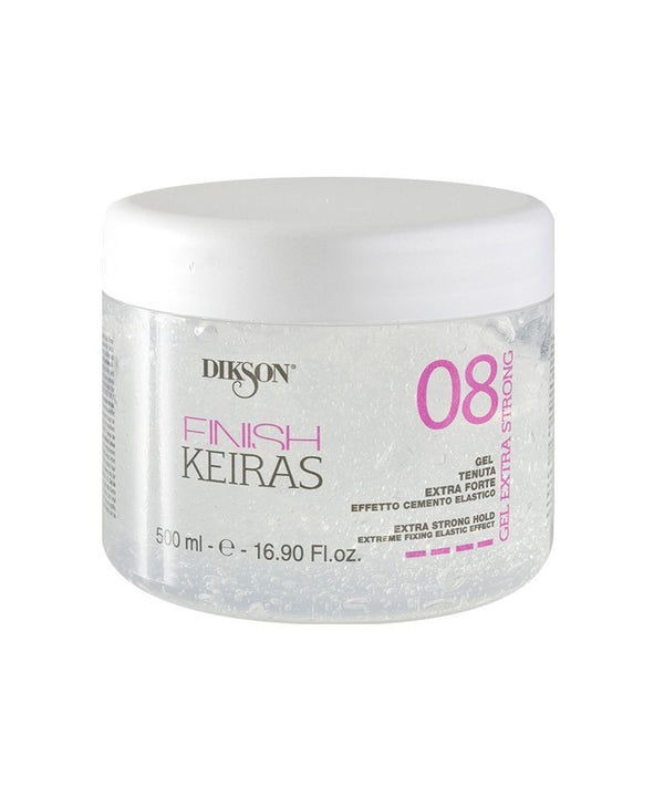 DIKSON KEIRAS FINISH GEL EXTRA STRONG 08 500ML | GELL PËR FLOKË