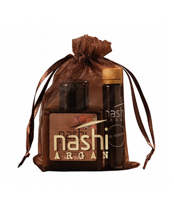 NASHI ARGAN SACHET SHAMPOO 30ML + CONDITIONER 30ML + OIL 5ML 1X3PCS | NASHI ARGAN SET (SHAMPO+KONDICIONER+VAJ)