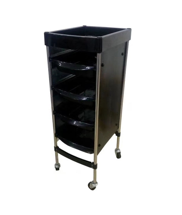 PROFESSIONAL EQUIPMENT SALON TROLLEY (BLACK) Q18 | KARROCË E ZEZË
