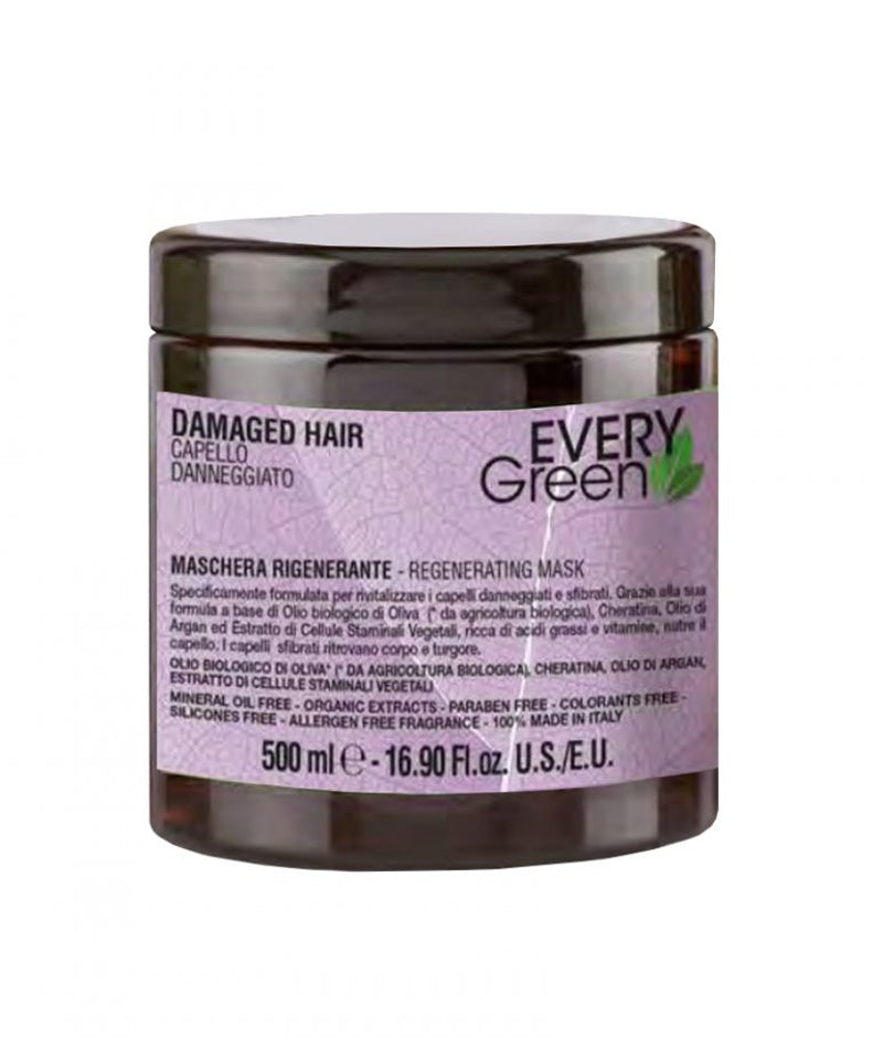 EVERY GREEN REGENERATING MASK 500ML | MASKË PËR FLOKË