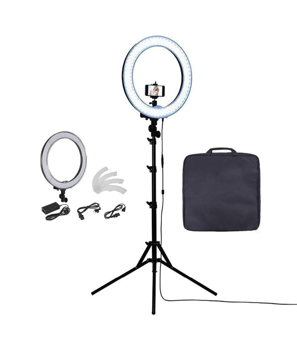 PROFESSIONAL EQUIPMENT LED LIGHT RING FOR PHOTOGRAPHY & VIDEO STAND 20INCH | LED LLAMPË PËR FOTOGRAFI & VIDEO