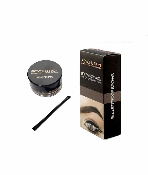 REVOLUTION BROW POMADE DARK BROWN 2.5g | KREM PËR VETULLA