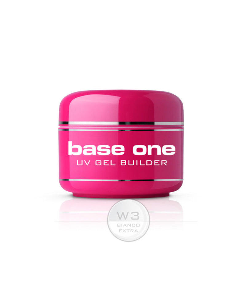 SILCARE BASE ONE UV GEL BUILDER W3 BIANCO EXTRA 30G | GELL NDËRTUES