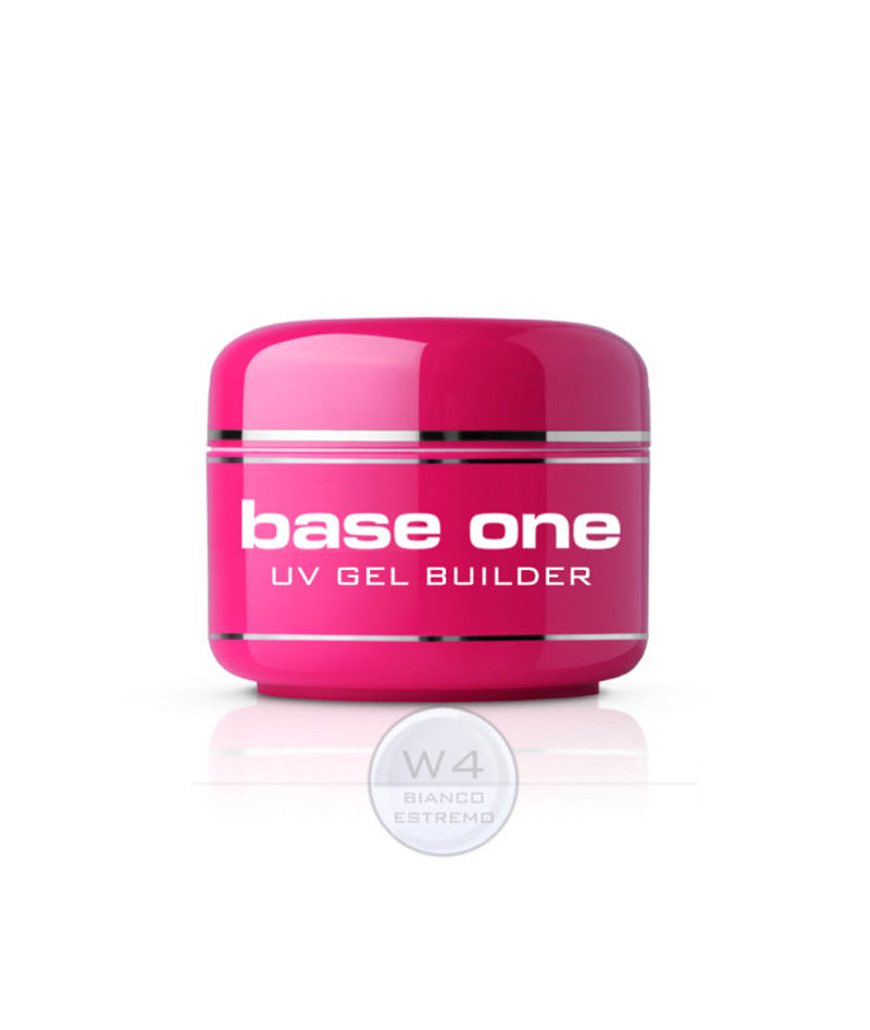SILCARE BASE ONE UV GEL BUILDER W4 BIANCO ESTREMO 30G | GELL NDËRTUES
