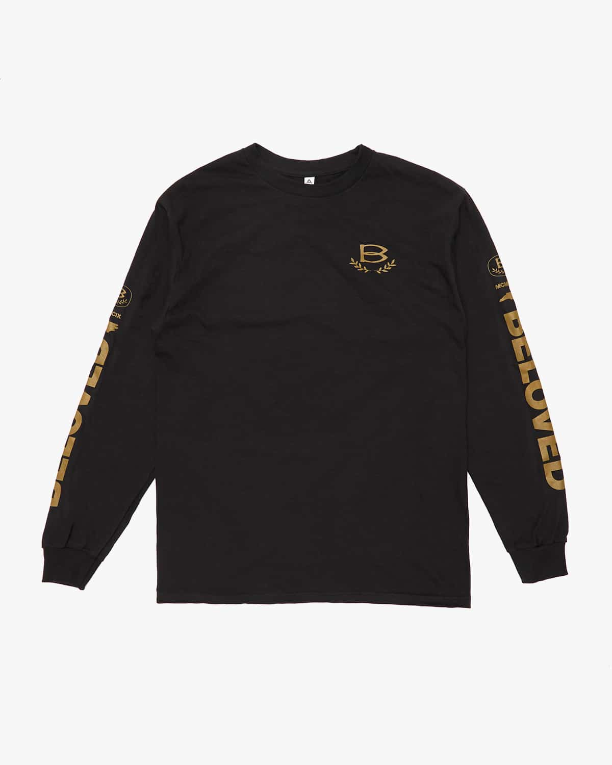 'Vision' Long Sleeve Tee - Black