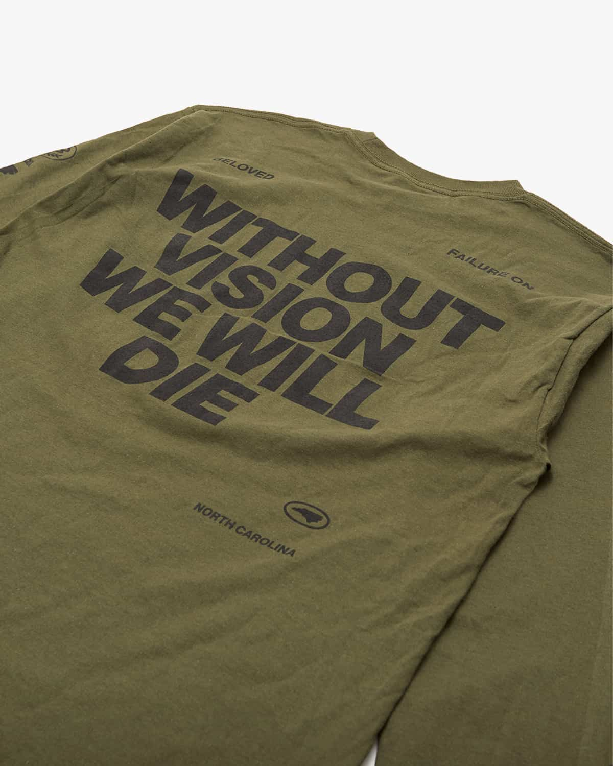 'Vision' Long Sleeve Tee - Military Green
