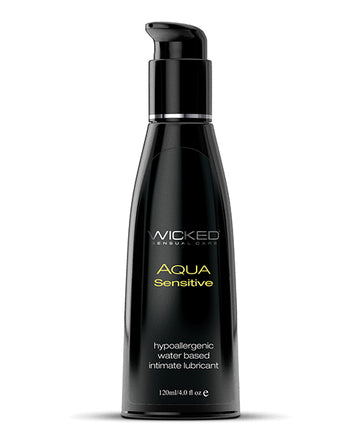 Wicked<br>Aqua <br>Water Based<br> Hypoallergenic Sensitive<br> Lubricant aw-sex-products.