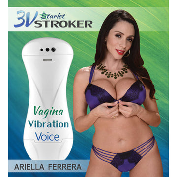 3v Talking &<br>Vibrating<br> Starlet Stroker<br> Ariella Ferrera aw-sex-products.
