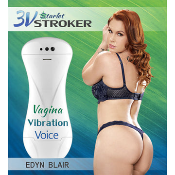 3v Talking &<br>Vibrating<br> Starlet Stroker<br>Edyn Blair aw-sex-products.