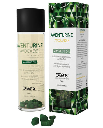 Exsens Aventurine Avocado Massage Oil 100ml aw-sex-products.