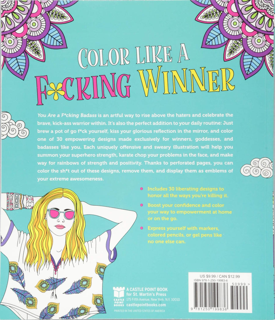 Adult Coloring Book<br>You Are a F*cking Badass: <br>Sweary Empowerment to Color and Display aw-sex-products.