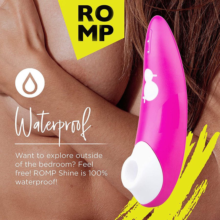ROMP<br> Shine<br> Clit Sucking Vibrator<br> Clitoral Massaging Toy<br> with 10 Intensity Level aw-sex-products.