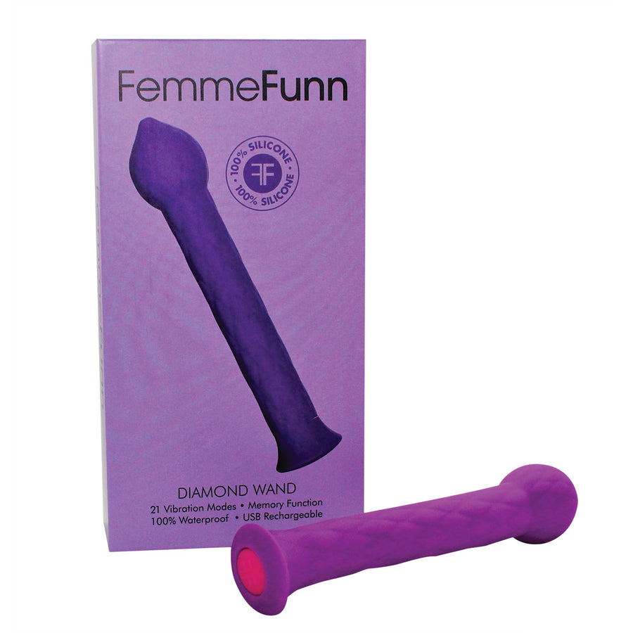 Femme Funn Diamond Wand Massager Vibrator 3 Colors aw-sex-products.