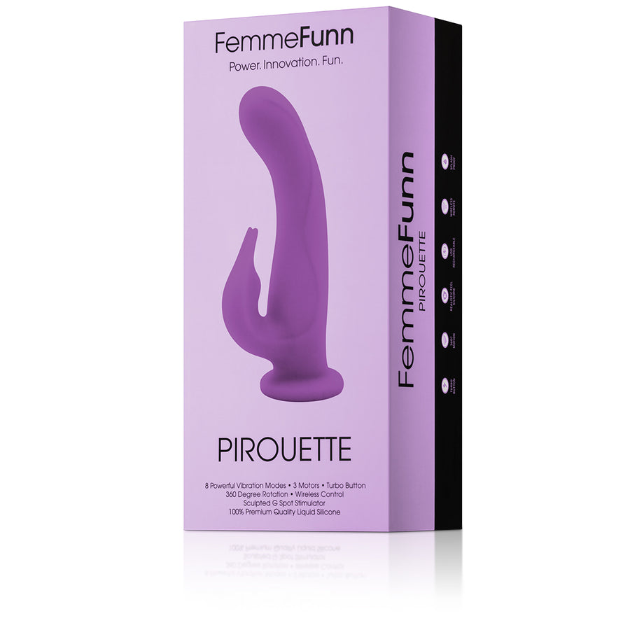 Femme Funn Pirouette Clitoral and G-Spot Vibrator 2 Colors aw-sex-products.